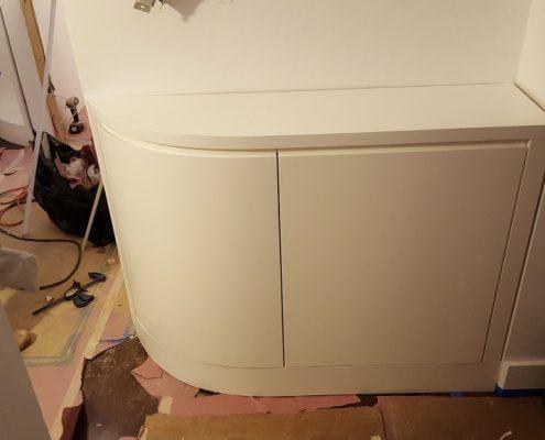 custom curved cabinets ny